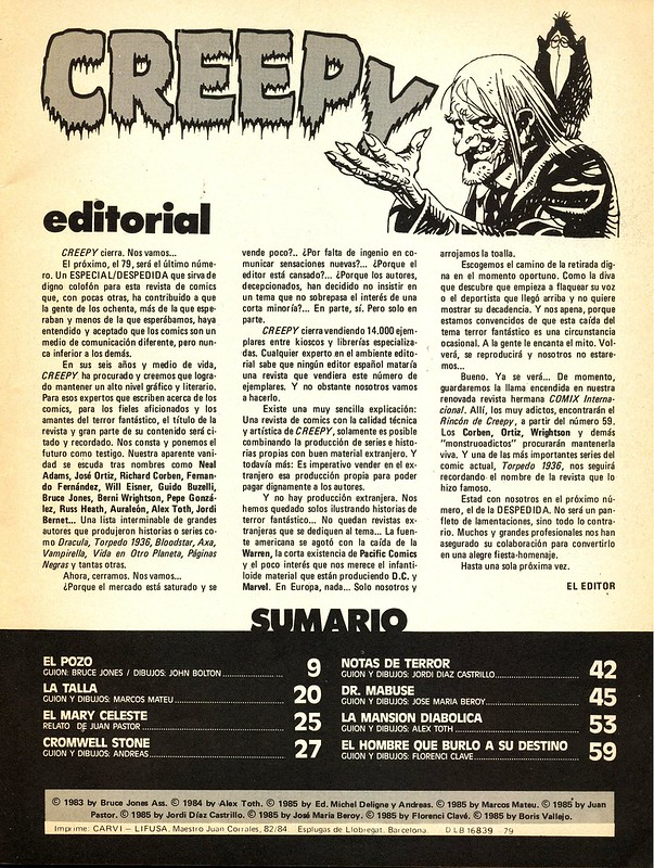 CREEPY - Nº 78 - TOUTAIN EDITOR - AÑO 1985_03