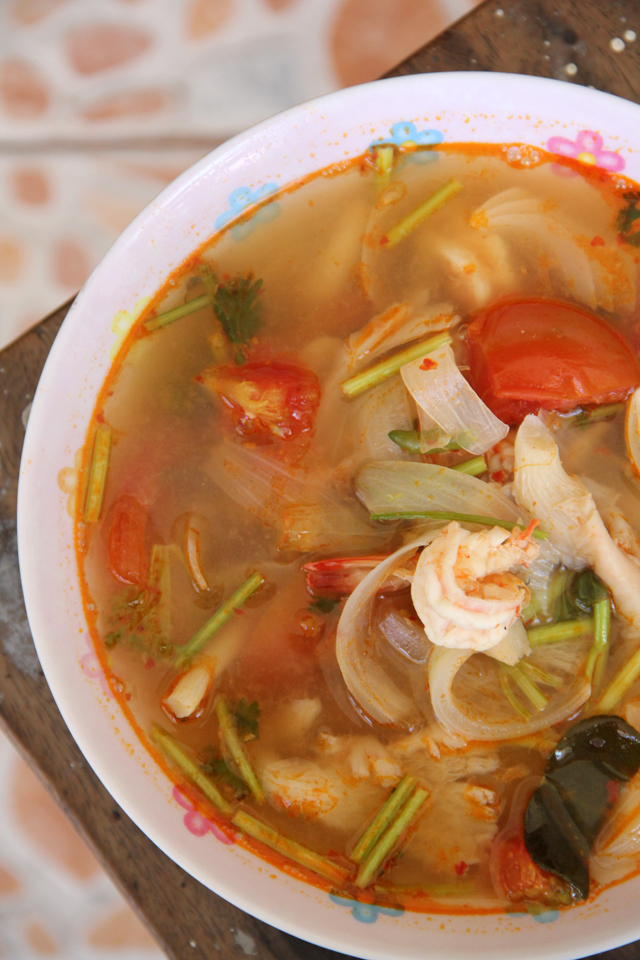 Tom Yum Goong (Spicy Thai Soup w/ Shrimp) ต้มยำกุ้ง