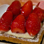 Strawberry tart at Gerard Mulot