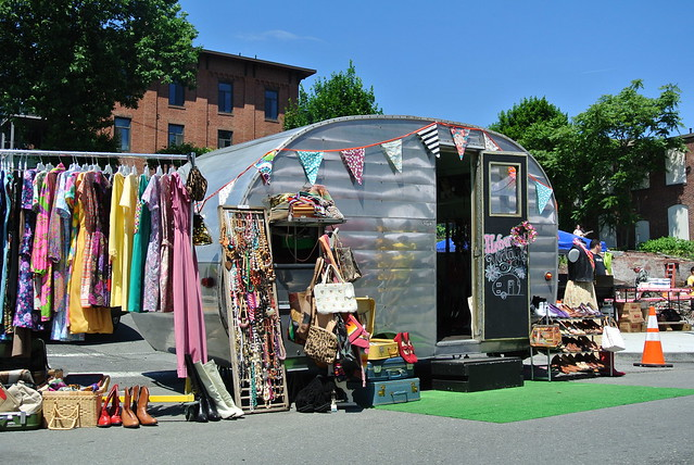 Haberdash mobile shop at start on the street
