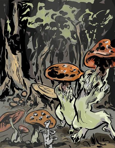 Mushroom People - Sketch