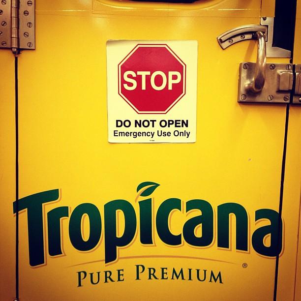 Do not open this orange juice!