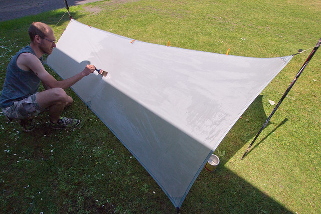 Re-coating the tarp