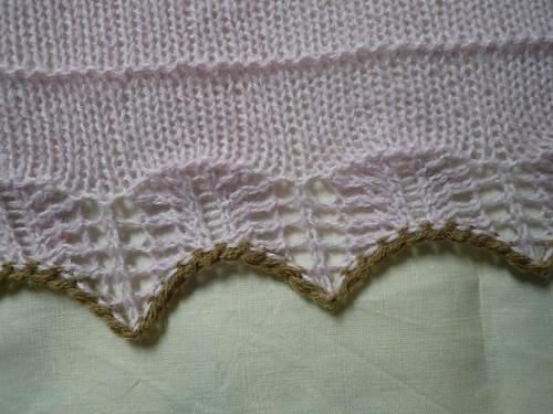 Pink alpaca lace edge