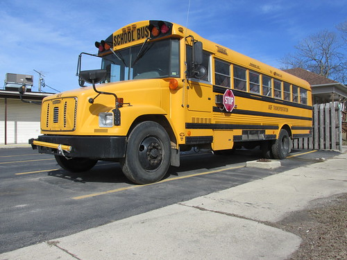 AGF Transportation Company Freightliner /  Thomas Built school bus.  Summit Illinois.  March 2014. by Eddie from Chicago
