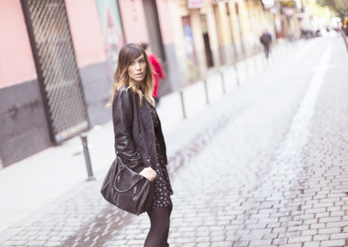 street style barbara crespo print dress C&A malasaña calle velarde fashion blogger outfit blog de moda