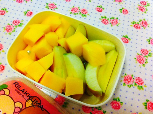 Vitamins :) (mango + pink lady apple)
