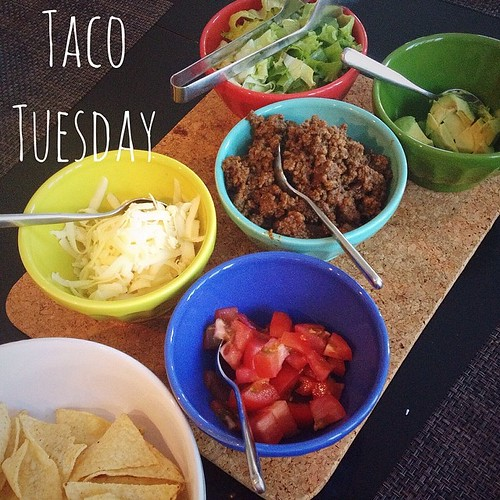 Taco Tuesday - my son's favorite meal of the week. Beef tacos tonight - homemade seasoning (super easy) and freezer cooking (I always triple my batch and freeze extras) for a quick and healthy dinner #tacotuesday #freezercooking