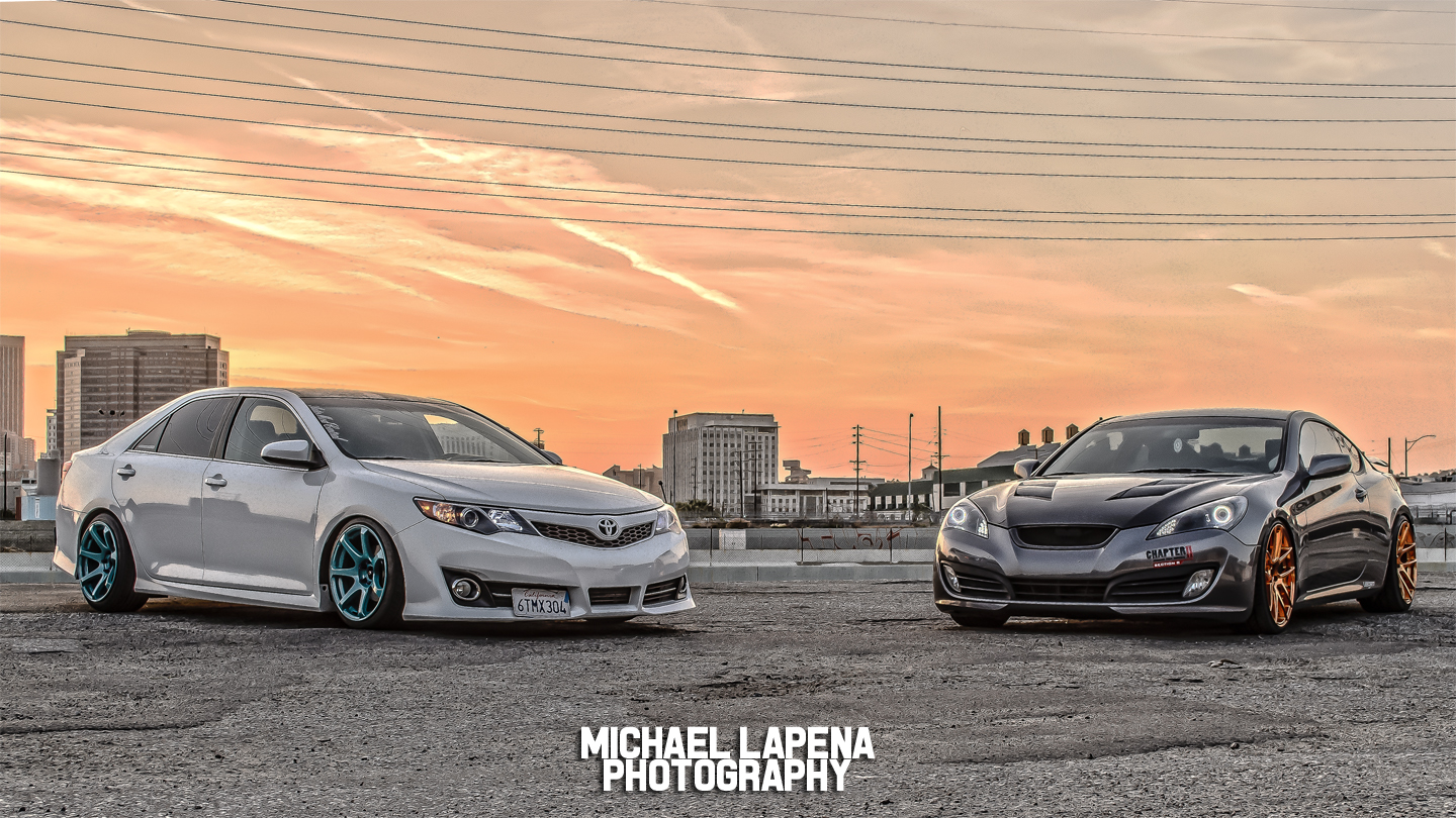 Suraj's Camry and Vince's Genesis
