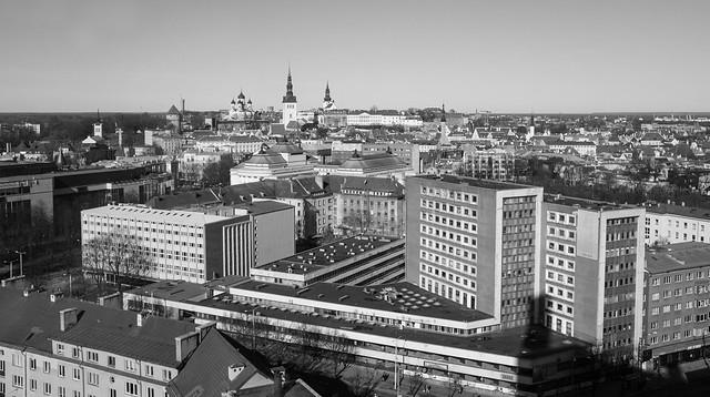 Tallinn from a hotel room
