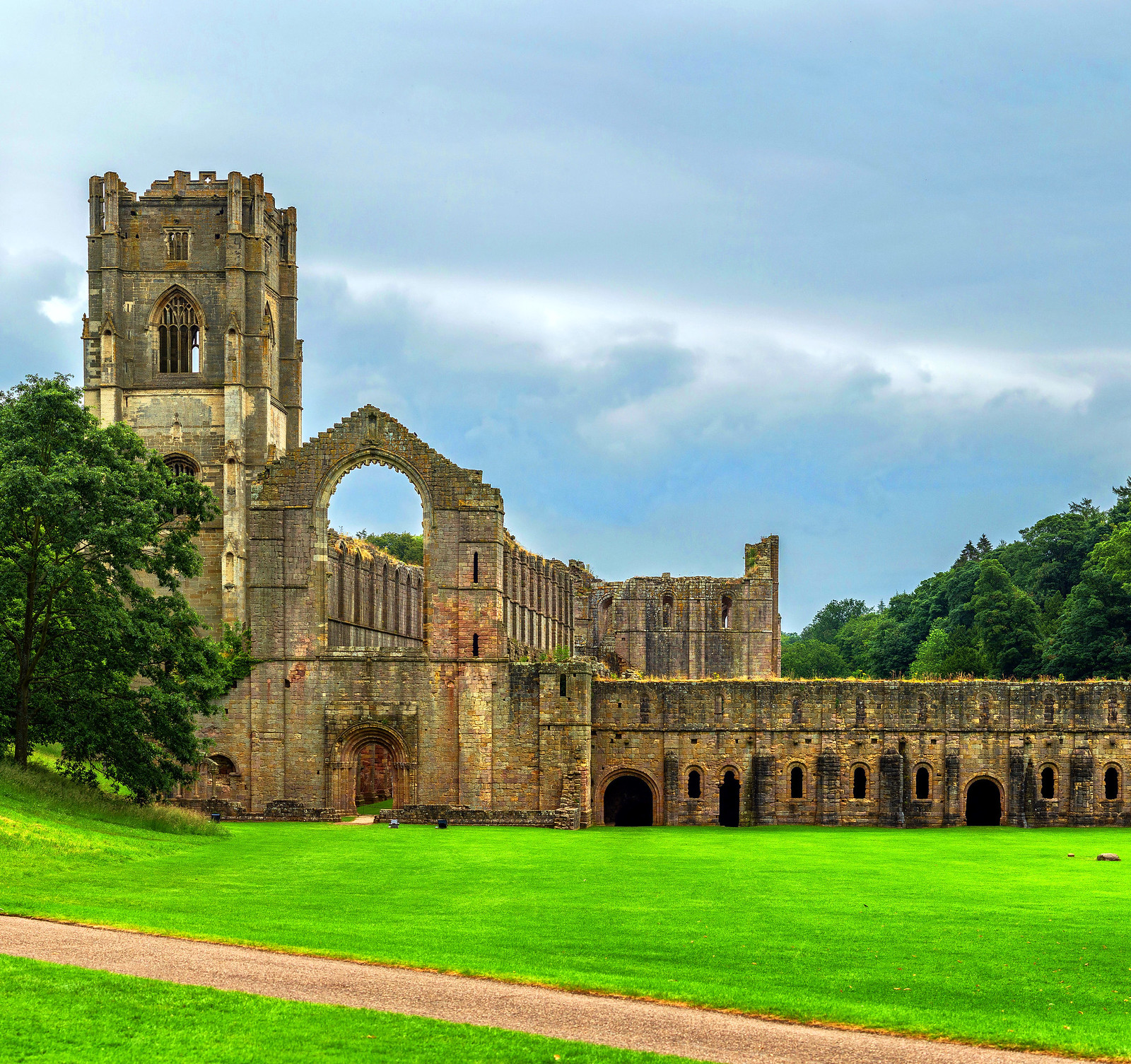 Fountains Abbey. Credit David Iliff