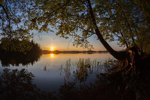 sunset sun lake espoo landscape prime sundown fisheye explore 15mm kesä järvi auringonlasku aurinko pitkäjärvi