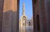 Trekkingreise Oman mit Hajar-Gebirge. Die große Moschee in Maskat. Foto: Alfred Fuchs.