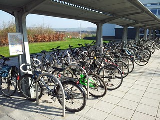 Cycle parking at Queen Margaret University, Musselburgh