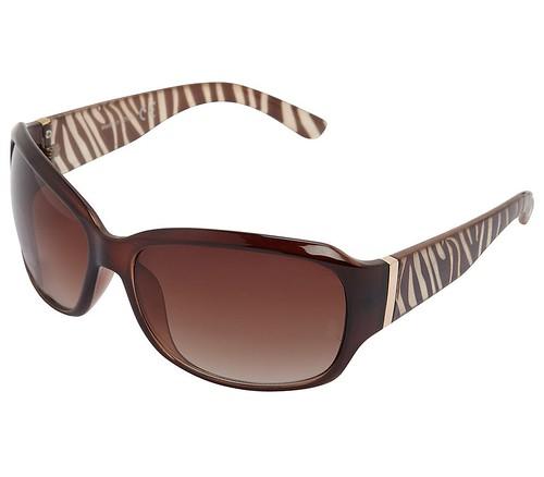Chocolate zebra arm sunglasses