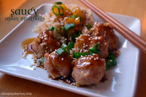 Saucy Asian Meatballs