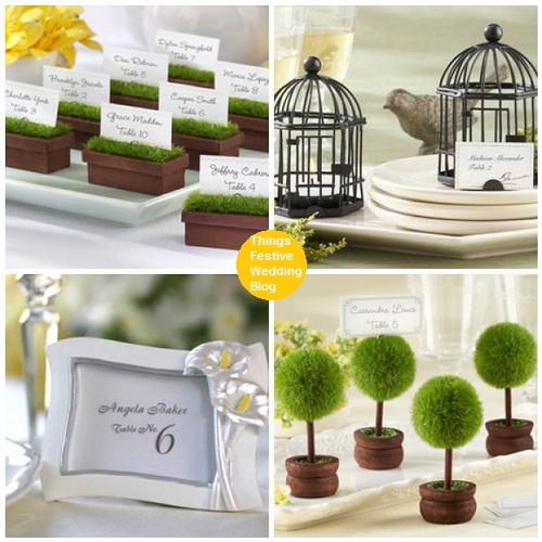 Wedding Place Card Holders Visit us at ThingsFestivecom for stylish wedding