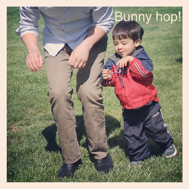 Ryan and Owen do the bunny hop