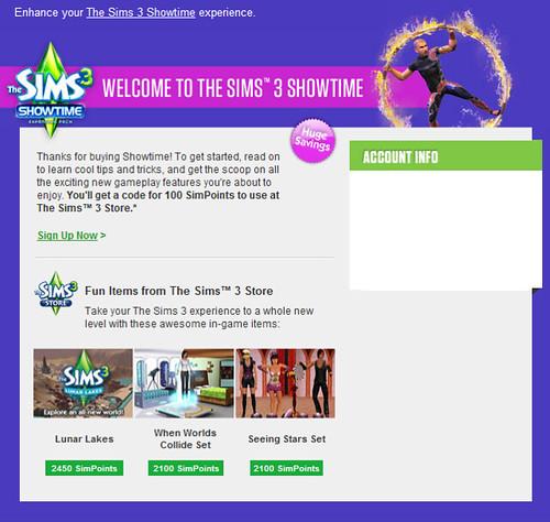 Sims 3 VIP Signup