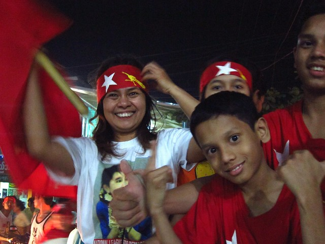 NLD Supporters Happy with Election Results