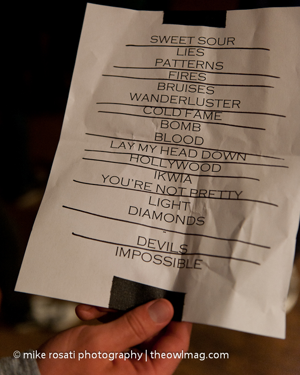 Band of Skulls set list @ Fillmore 4-12-12