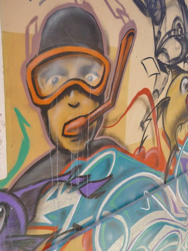 Scuba graffiti
