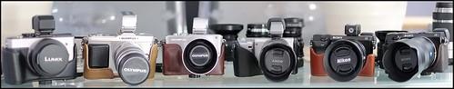 Panasonic GX1, 20mm f/1.7, Olympus E-P2, 12-50mm, E-PL3, 45mm f/1.8, Sony NEX-5n, 18-55mm, NEX-7, Voigtlander 20mm, Zeiss 35mm f/1.8