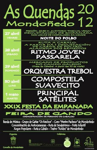 Mondoñedo 2012 - As Quendas - cartel