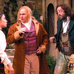 Twelfth Night L-R Jamie Ann Romero  (Fabian)_Ian Andersen (Sir Andrew Aguecheek)_Logan Ernstthal (Sir Toby Belch) photo P. Switzer -