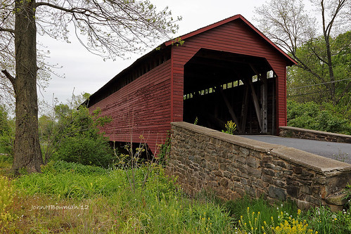 maryland april 2012 coveredbridges riversandstreams fishingcreek frederickcounty nrhp canon24105l burrarchtruss multiplekingposttruss uticamillsbridge april2012 marylandcoveredbridges
