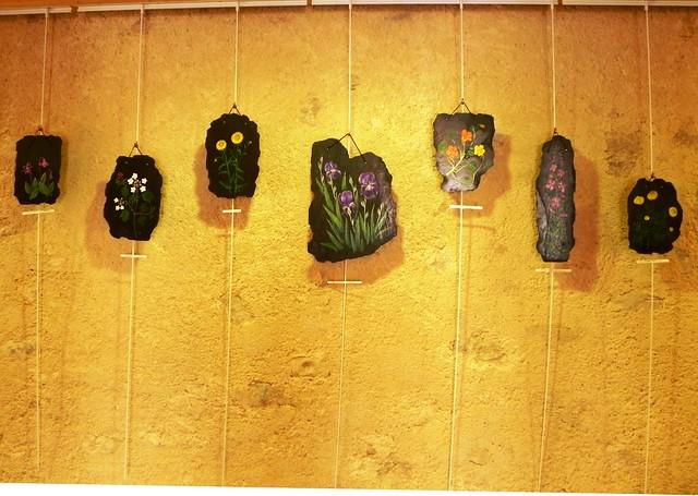 Exposition ardoises peintes
