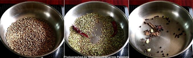 How to make garam masala powder - Step1