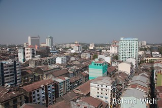 Yangon - View over the Centre