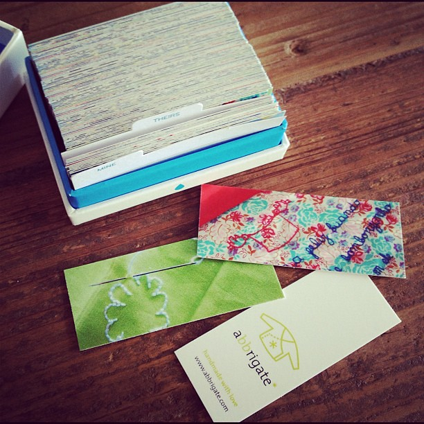 My moo minicards arrived, they are perfect!