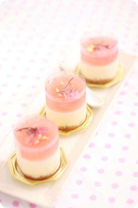 Sakura Rare Cheese Dessert 桜ホワイトレアチーズ