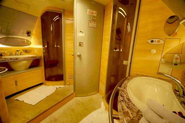 Emirates First Class A380 bathroom | Flickr - Photo Sharing!