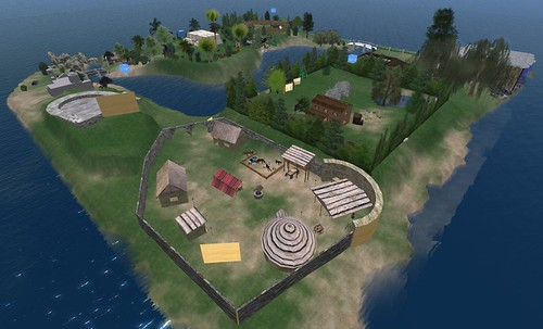 archeology island on ScienceSim