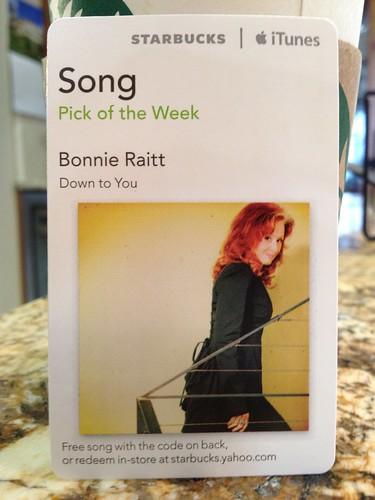 Starbucks iTunes Pick of the Week - Bonnie Raitt - Down to You