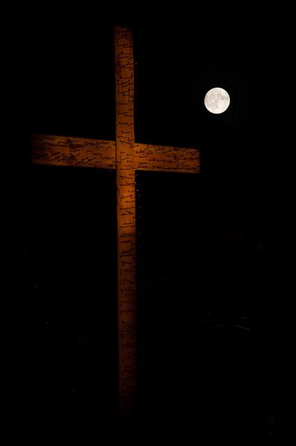 Moon over Cross