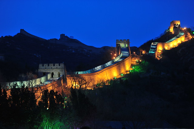 China_Badaling Great Wall_Badaling Great Wall on EH Night 1855_Copyright Diandian.com Zhang Jiawei, WWF-China