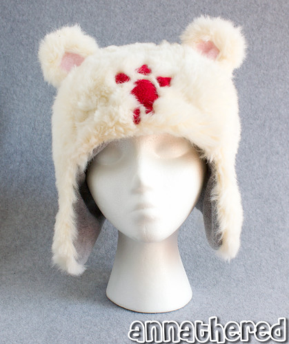 Ushanka hat prototype - fake fur ver.4 w/ fleece lining