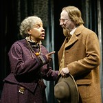 Phylicia Rashad (as Aunt Ester) and Raynor Scheine (as Rutherford Selig) in the Huntington Theatre Company's production of August Wilson's