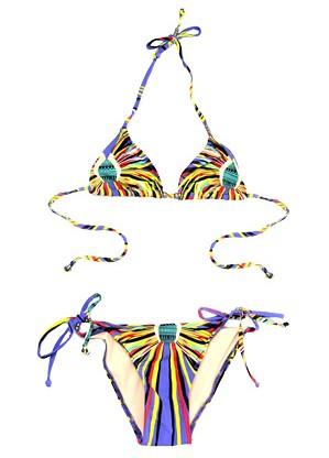Mara Hoffman Tie Side Bikini In Brazil Blue