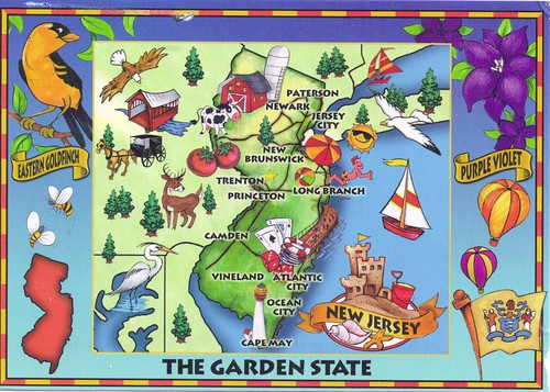 New Jersey Mapcard