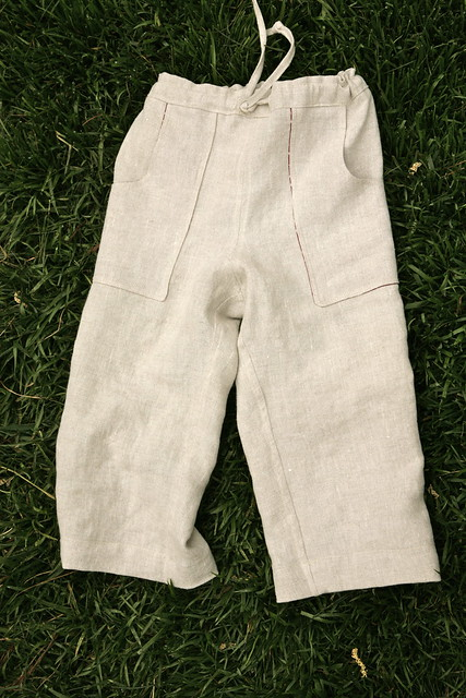 Sandbox pants, front.
