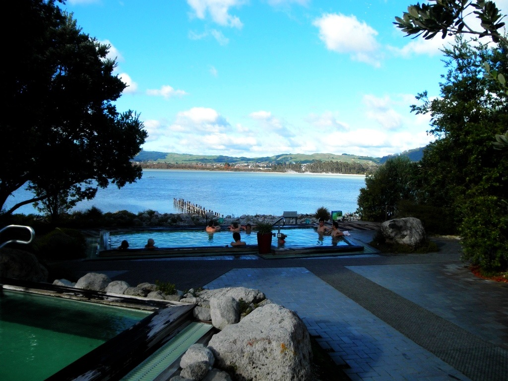 Pool at the Polynesian Spa in Rotorua, New Zealand