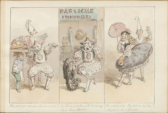 Pantomime as it was is and will be by Alfred Crowquill (aka Alfred H Forrester) - 1849 - (They rob and deceive the innocent...) - courtesy Harvard U