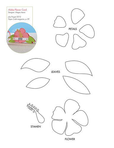 Pattern for Aloha Flower Card