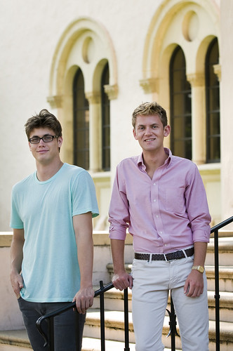 Michael Van Den Berg '12 and Christian Bromley '12