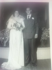 My Mom & Dad\'s wedding picture. May 7, 1949